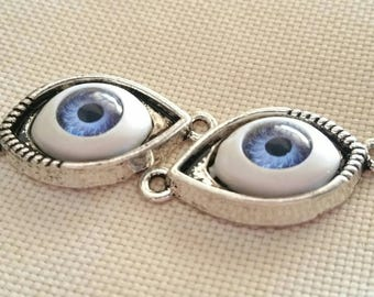 1 pair of eyes silver connector