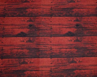 Red Wood Fabric, Fabric by the yard, Fat Quarter, Quilting Fabric, Apparel Fabric, 100% Cotton Fabric, S-2