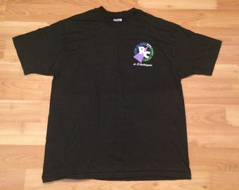 XL 1992 Rodney Crowell concert T shirt men's vintage black Spend The Night in Washington D.C. 90's country music 1990's Hanes