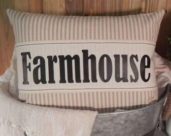 Farmhouse 12x16 Pillow Cover, Rustic Home Decor, Country Home Decor, Decorative Pillow, Throw Pillow, Accent Pillow