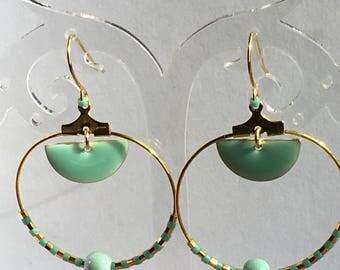 Celadon green earrings