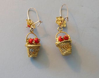 Two Pairs of wire and bead earrings