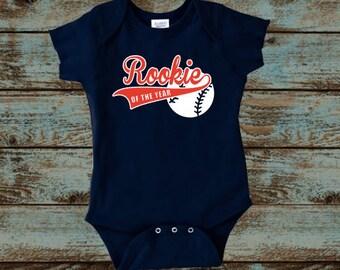 Rookie of the Year First Birthday, Baseball Shirt, Baseball Birthday