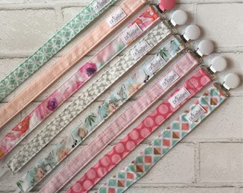 Pacifier Clips | Baby Girl Pacifier Clips | Baby Accessories | Binky Clip | Baby Shower Gift