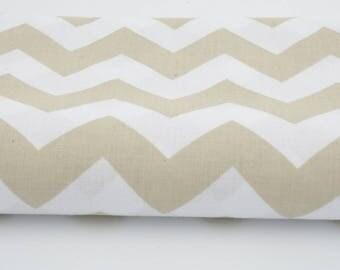 100% cotton fabric printed 50 x 160 cm, fabric chevron zig zag cream colour cotton fabric - 62 inches wide