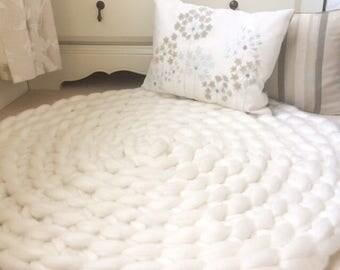 white bedroom rug. Bedroom Rug  Neutral Giant Knit Crochet White rug Etsy
