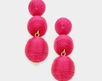 Bon Bon Earrings, Les Bonbons Earrings, Double Ball Earrings, Mini Bon Bon Earrings, Pink Bon Bon Earrings
