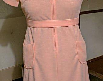 1950's Peach Dress