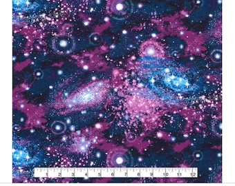 Galaxy fabric etsy for Galaxy material fabric