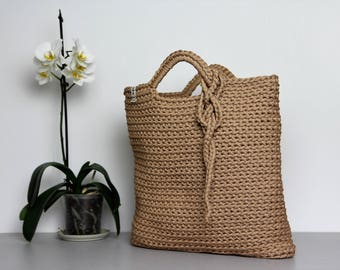 Sandy crochet bag/ Sandy beach bag/ Sandy summer bag/ Sandy knit bag/ Rope bag/ Sandy bag