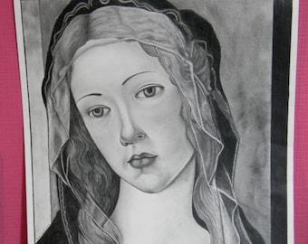 Design based on Botticelli Madonna