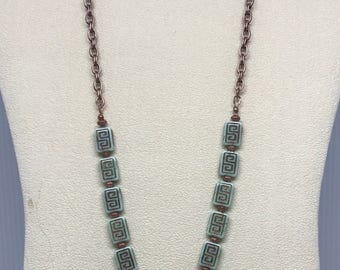 """22"""" Butterfly with Greek Key Necklace"""