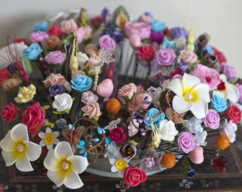 Spike or floral hair pin