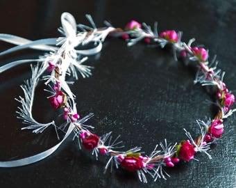 Crown of flowers for hair tiara headpiece
