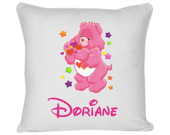 White cushion model bears pink