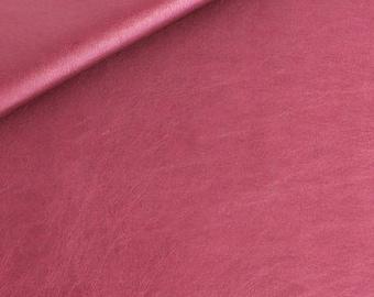 Faux leather metallic Burgundy