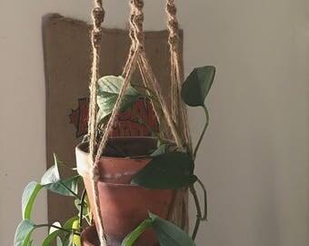 Jute Macramé Plant Hanger