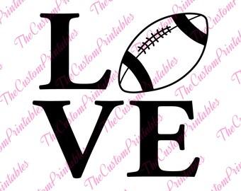 Football, Love, Soccer, Ball ,SVG, Cricut Files, Silhouette Files, Cameo, Vector, T-shirt, Iron On