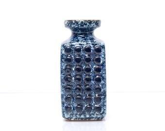 VEB HALDENSLEBEN Form 3058 C Vase with Dots Mid Century GDR 1960s Ceramic