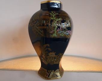 W R Carlton Ware Hexaganol Vase