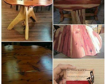 One-Of-A-Kind Handmade Rustic Table