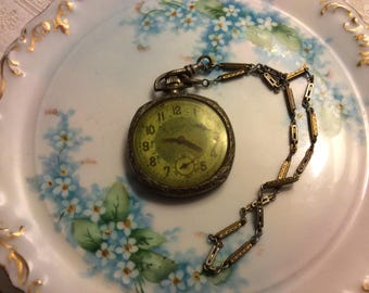 Antique Langendorf Supreme Pocket Watch with Chain, 16 Jewels,  non working