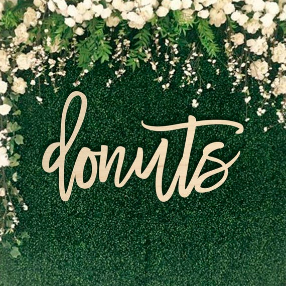 Cute donuts sign