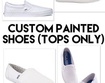 Custom painted shoes (tops only)