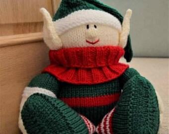 Christmas Elf Door Stop Knitting Pattern, Elf Knit Pattern, Elf Knitting Pattern, Door Stop Knitting Pattern, Christmas Knitting Pattern