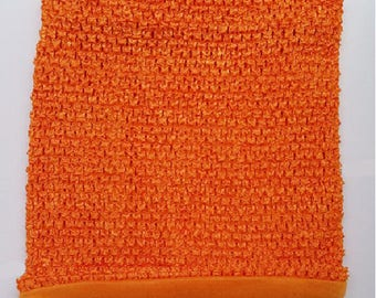 sale! ORANGE crochet for making costumes and tutu dress STRAPLESS stretch Double 2-6 years