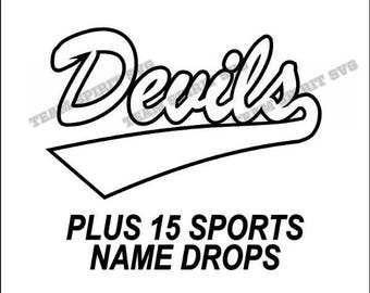 Devils Swoosh Download Files - SVG, DXF, EPS, Silhouette Studio, Vinyl Cutting Files, Digital Cut Files - Use with Cricut and Silhouette