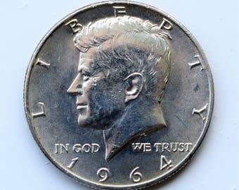 United States 1964 Kennedy Half Dollar.