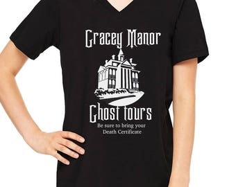 Gracey Manor Ghost tours Disney Haunted Mansion Shirt Disney Halloween Shirt Disneyland Shirt Disney World Shirt Disney Shirt Magic Kingdom