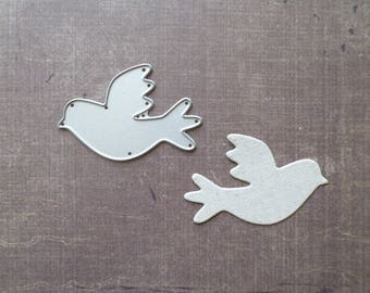 Die cut Stencil Sizzix animal bird Dove