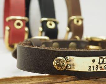 Dog Collar, swarovski collar, Small Dog collar, special collar, Personalized collar, Leather dog collar, colors collar, Elegant dog collar.