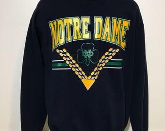 Vintage Notre Dame Sweatshirt XL