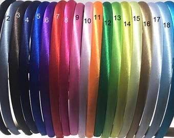 10mm Satin Headbands, Wholesale Headband, baby Headband, Toddler Headband, Girls Headband, Headband Supplies, Plain Headbands, DIY headbands