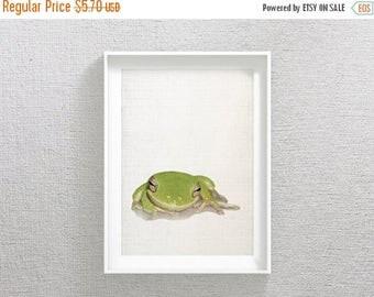 SALE Green Frog Print, Frog Nursery Decor, Frog Art Printable, Green Art Work, Frog Wall Art, Green Art, Frog Artwork, Frog Nursery Wall Pri