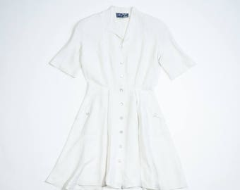 THIERRY MUGLER - Linen dress