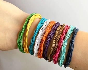 Bracelet/Braided Bracelet/Braided Cord Bracelet/Multi Color/Braid/Friendship bracelet/Friendship/Cord/Cord Bracelet/Adjustable/jewelry