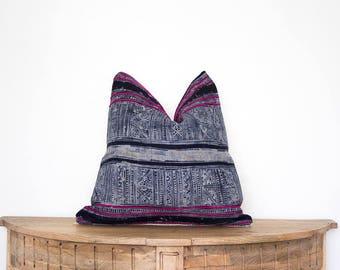 18X18 Vintage Hmong Pillow Cover
