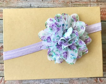 Lavender Headband/Floral Headband/Lavender Baby Headband/Purple Headband/Baby Headband/Newborn Headband/Baby Girl Headband/Infant Headband
