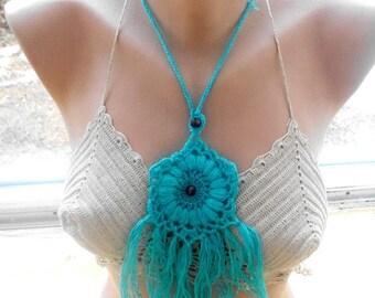 30 % DISCOUNT crochet lariat scarf, crochet scarf, , crochet flower scarf, crochet necklace, scarves for her