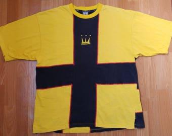 Dada Supreme hip-hop jersey, vintage Damani t-shirt of 90s hip-hop clothing, 1990s hip hop shirt, yellow cotton OG gangsta rap, size L Large