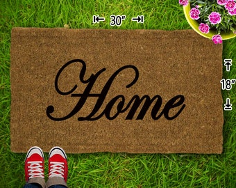 Home Coir Doormat - 18x30 - Welcome Mat - House Warming - Mud Room - Gift - Custom