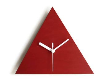 Laser cut wood triangle clock,modern wall clock,wood wall clock,wall clock modern,wall clock wood,minimalist wall clock,minimalist clock