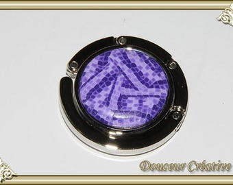 Purple bag hook checkered 106007
