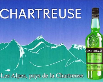 Vintage Chartreuse Advertising Poster