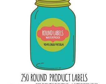250 Custom Round Product Labels, Custom Labels, Product Labels, Personalized stickers, Personalized Labels, custom circle stickers,