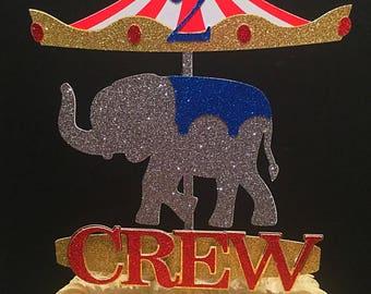 Carousel Elephant Cake Topper
